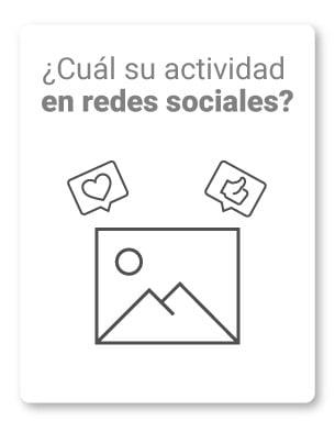 17. ¿Cuál su actividad en redes sociales?