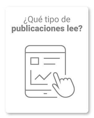 16. ¿Qué tipo de publicaciones o blog lee?
