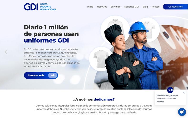 Sitio Web de GDI Uniformes