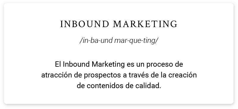 conoce inbound_definición de Inbound marketing