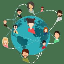 Red de conexiones en LinkedIn