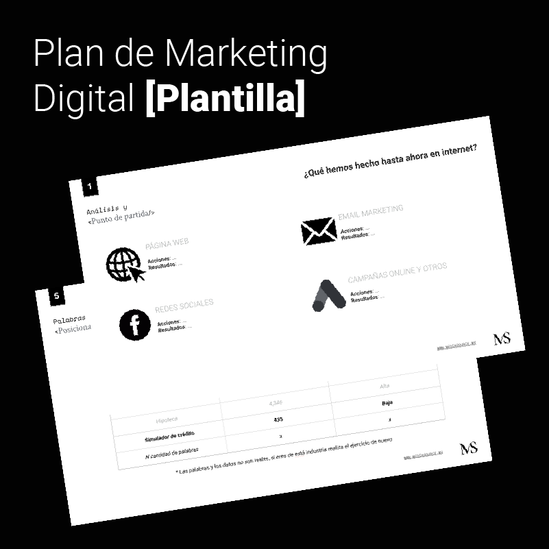 Plan de Marketing Digital Plantilla